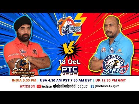 Global Kabaddi League | Match 08: Singh Warriors Punjab Vs California Eagles