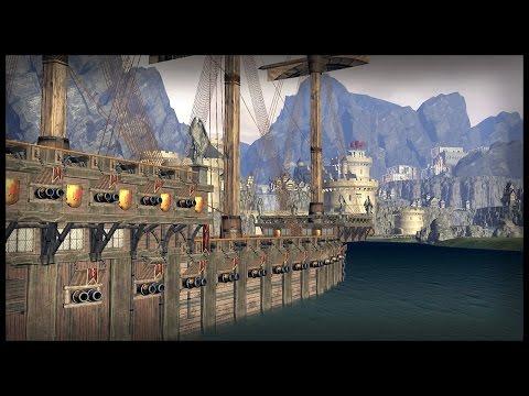 Epic Ship Bombardment Castle Siege - Custom Map Battle | Warhammer Total War Gameplay