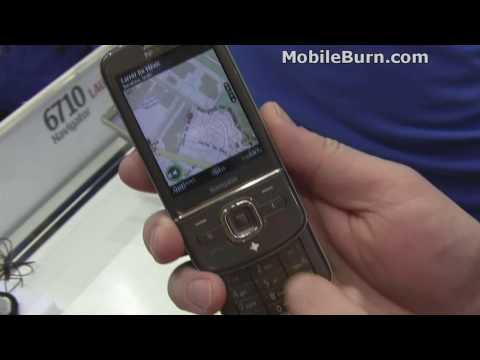 Nokia 6710 Navigator demo at MWC09