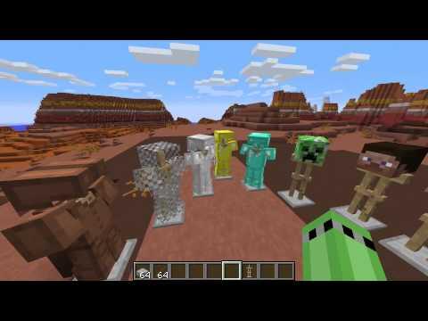 minecraft 1 8 update statuen r stungshalter bunt youtube. Black Bedroom Furniture Sets. Home Design Ideas