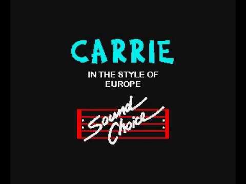 Karaoke - Europe   Carrie