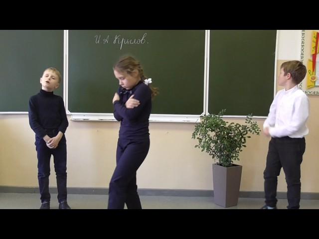 Изображение предпросмотра прочтения – «Гимназия ДВФУ 2 класс» читает произведение «Стрекоза и Муравей» И.А.Крылова