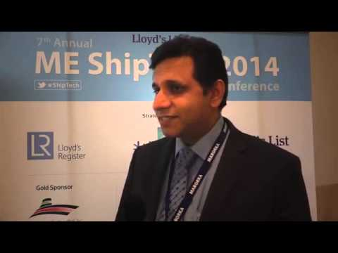 Captain Farhad Patel from Sharaf Shipping Agency on ME ShipTech Conference 2014