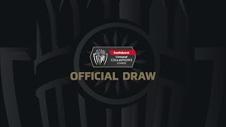 Official Draw   2020 SCCL