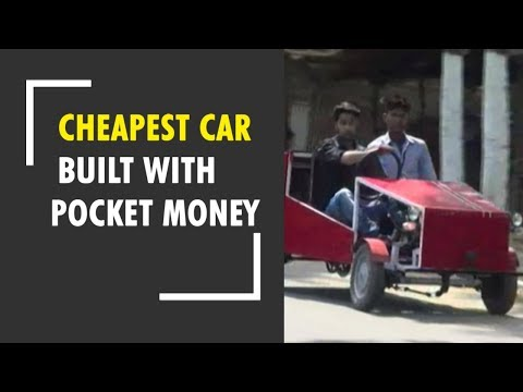 Students fund their mechanical project, build the cheapest four-wheeler