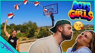 BOYS vs GIRLS TRUTH or DARE Trick Shot Challenge!