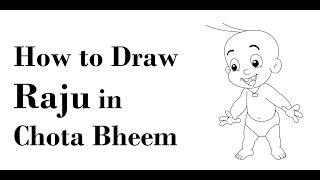 How to draw Raju in chota bheem cartoon step by step