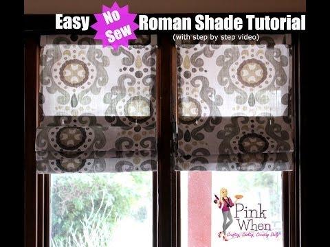 DIY No Sew Roman Shades video tutorial