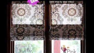 Diy No Sew Roman Shades Video Tutorial