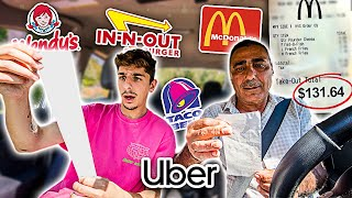 Letting UBER DRIVERS Decide What I EAT for 24 HOURS!!