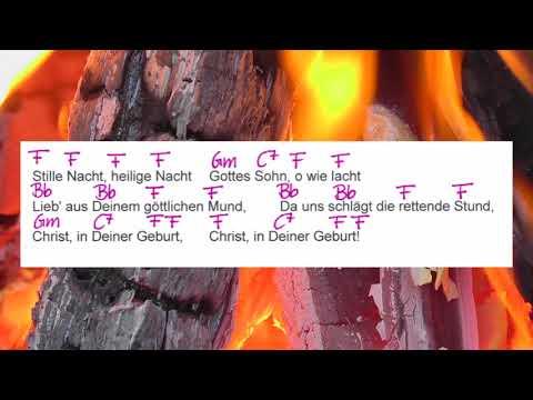Stille Nacht - Weihnachtslied - Chords and Lyriks - Campfire Version  - Musikschach