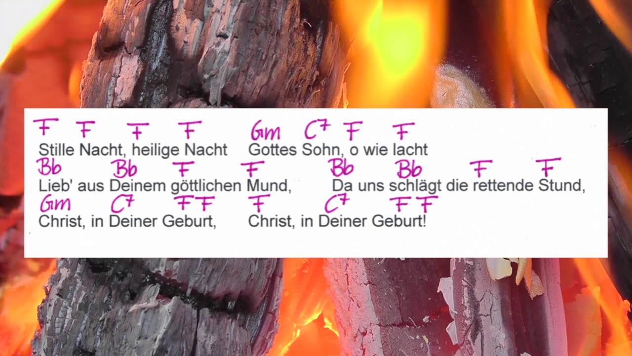 Stille Nacht - Weihnachtslied - Chords and Lyriks - Campfire Version ...