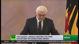 'Situation unseen in decades': German president on failed coalition talks thumbnail