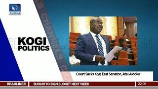 Court Sacks Kogi East Senator, Atai Aidoko Pt.1|News@10| 13/06/18