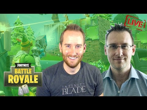 Playing FORTNITE BATTLE ROYALE Duos with Worldwide Creative Director of EPIC GAMES, Donald Mustard!