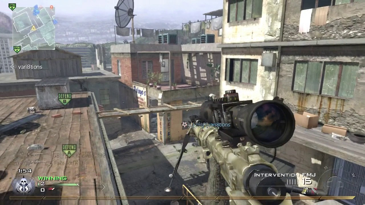 One of my luckiest MW2 shots ever.