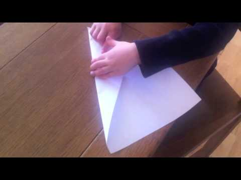 Paper plane tutorial, by a 4 year old