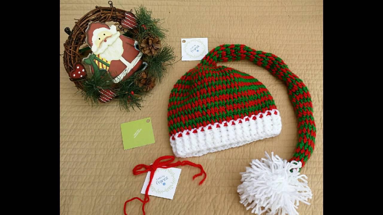 Crochet para navidad ; gorro papá noel ,elfo y pantufla. - YouTube