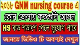 gnm nursing course   district wise vacancy  merit list .