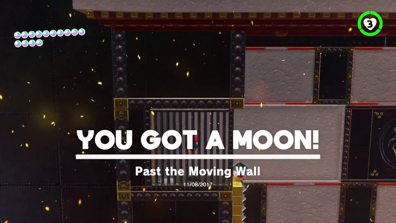 Super Mario Odyssey Bowser S Kingdom Moon 9 Past The Moving