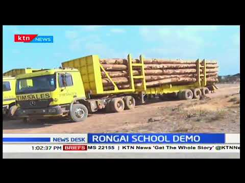 Residents of Rongai (Nakuru County) protest against large trucks transport in the area