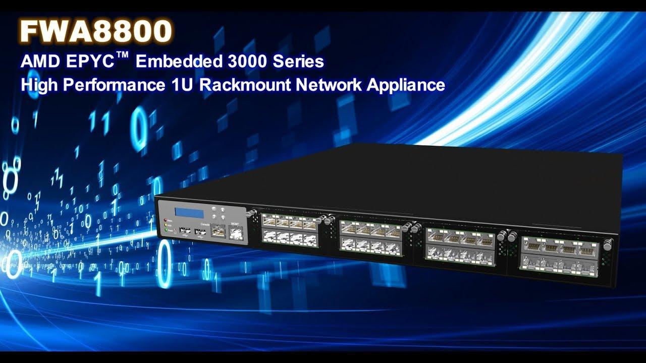 High Performance 1U Rackmount Network Appliance with AMD EPYC