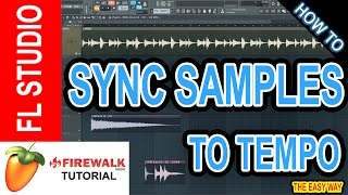 How to sync samples to the project tempo in FL Studio 12