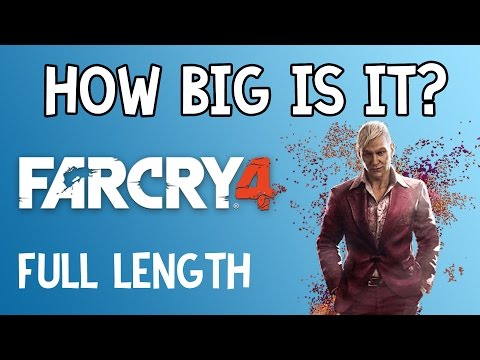 How Big is Far Cry 4? | Full Length Walk Across Kyrat