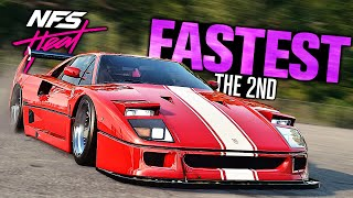 Need for Speed HEAT - The 2nd FASTEST Car? (Ferrari F40 Customization)