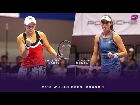 Ashleigh Barty vs. Johanna Konta | 2018 Wuhan Open Round One | WTA Highlights 武汉网球公开赛