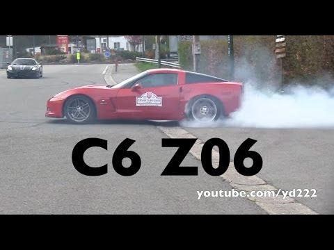Corvette C6 Z06 - Crazy drifts, donuts, burnout !