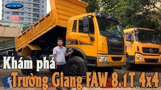 Xe ben Trường Giang FAW 8.1 tấn 2 cầu