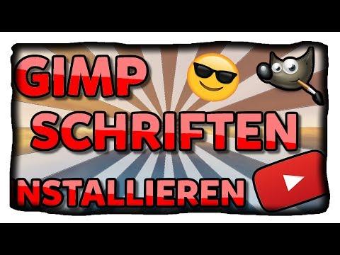 GIMP schriften EINFÜGEN   BaumTutorials