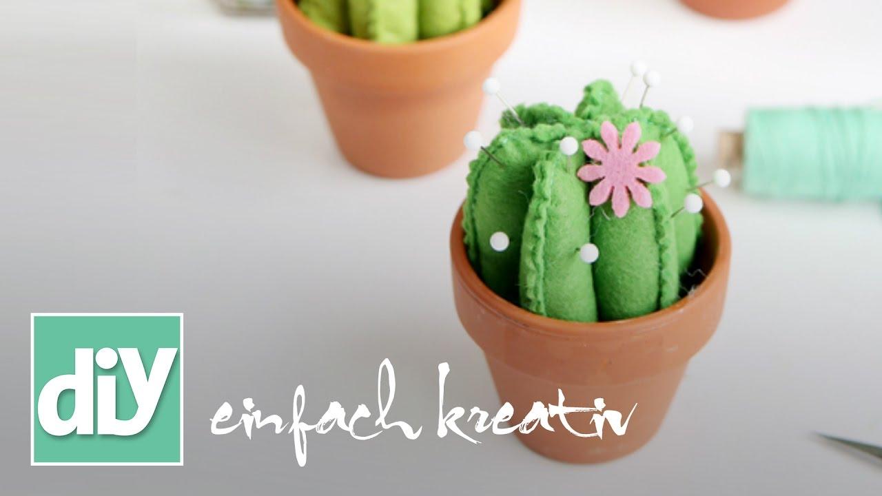 Kaktus-Nadelkissen   DIY einfach kreativ - YouTube