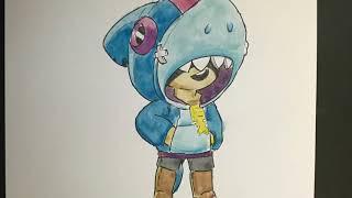 Leon Nasıl çizilir (köpek Balığı Kostüm) | How To Draw Brawl Stars Leon With Shark Costume