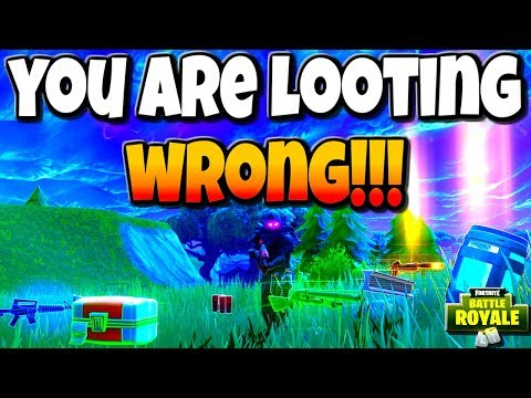 Fortnite Tips || You Are Looting Wrong