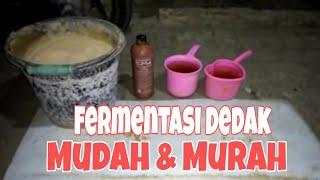 Cara fermentasi dedak