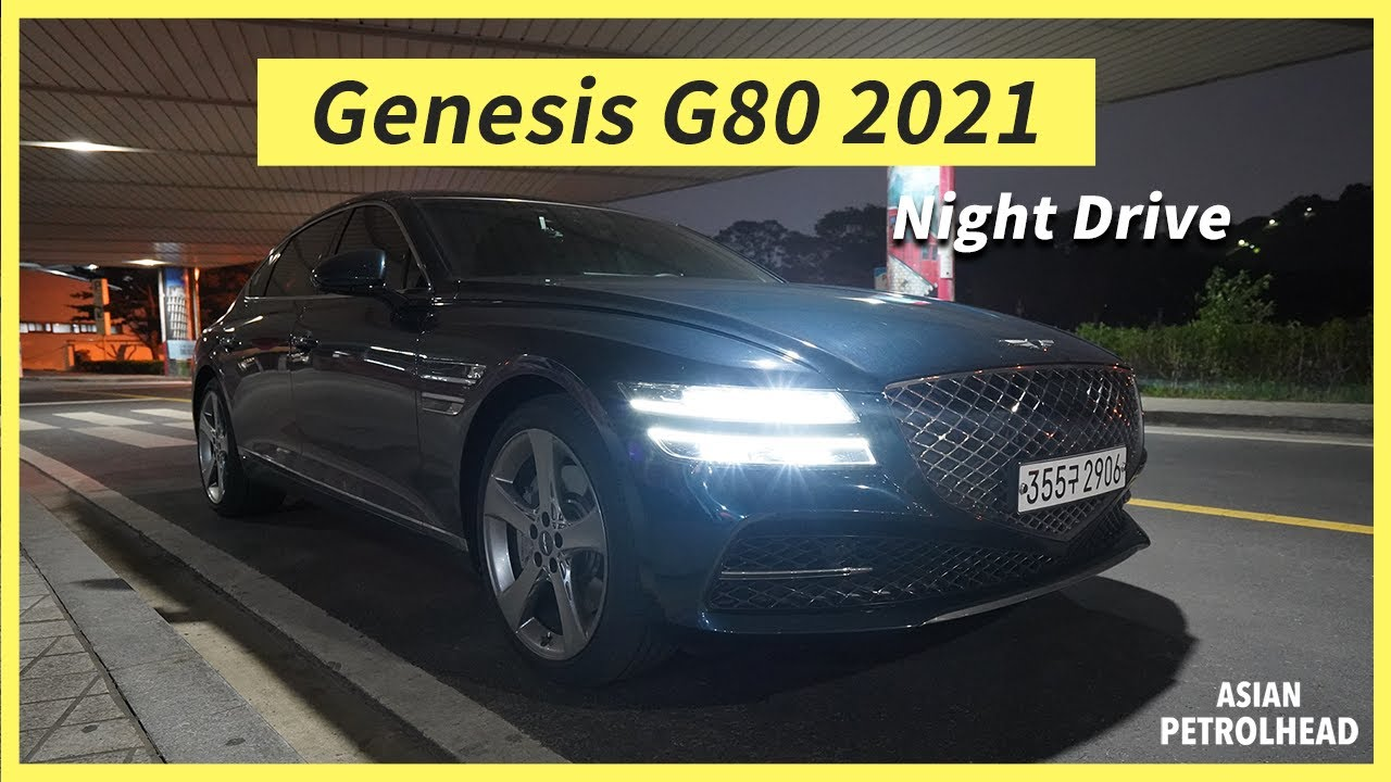 Night Drive w/ Genesis G80 2021 3.5 Twin Turbo – Ambient Light, Rear Infotainment and LED Headlamp!