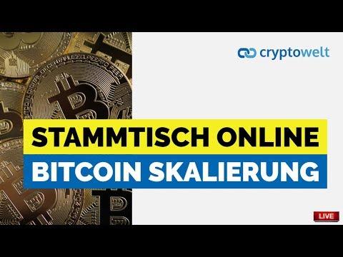 Stammtisch Online - Thema heute: Bitcoin Skalierung