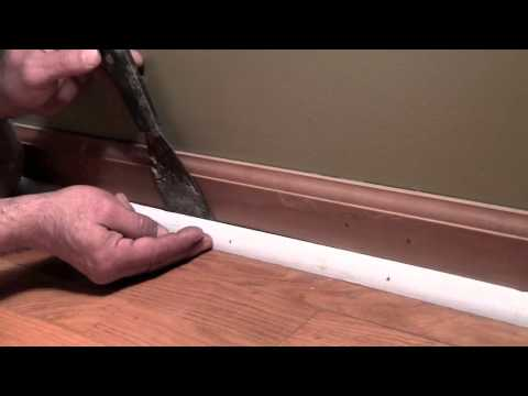 How to safely remove quarter round trim without damaging anything.