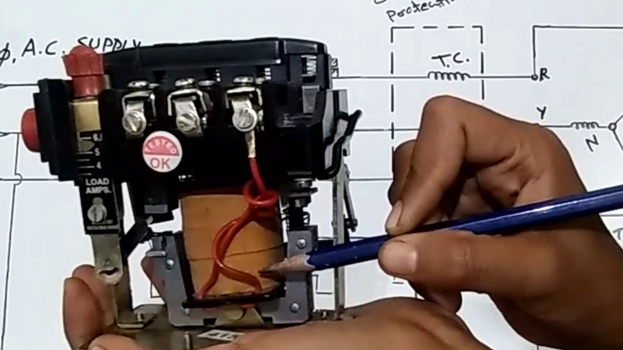 hight resolution of 3 phase motor starter connection