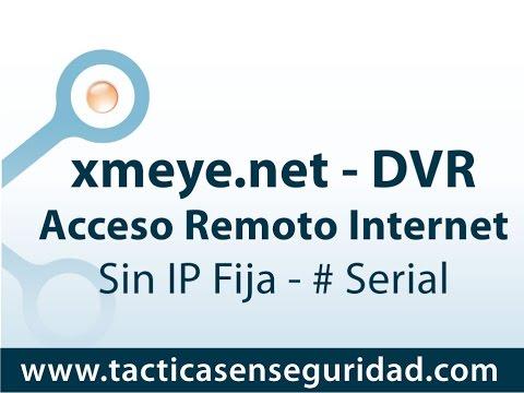 Acceso Remoto NVR DVR Standalone numero serial por xmeye.net - sin IP fija - CCTV Colombia