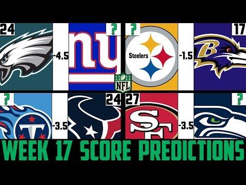 NFL Week 17 Score Predictions 2019 (NFL WEEK 17 PICKS AGAINST THE SPREAD 2019)