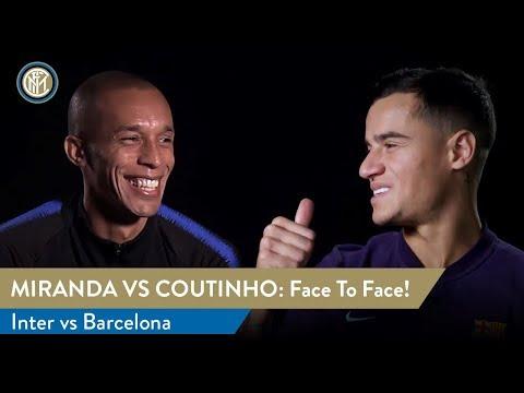 INTER vs BARCELONA   MIRANDA vs COUTINHO Face To Face!   Double Interview 🤝 🇧🇷