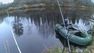Рыбалка. Осень. Река Коса Пермский край.