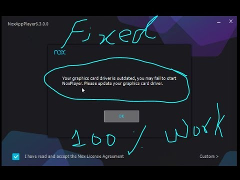 Fixed Error Of NOX APP PLAYER Without Installing Any Driver OR any software