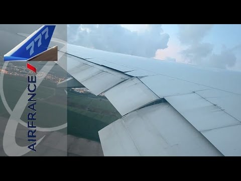 Boeing 777-300ER Air France Stunning sunset Take Off from Martinique!!