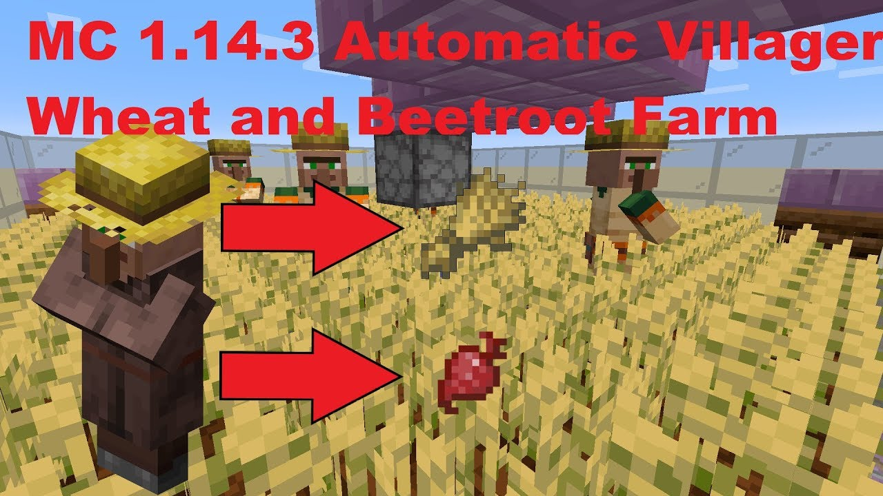 Automatic Villager Wheat And Beetroot Farm Minecraft 1 14 3 Youtube