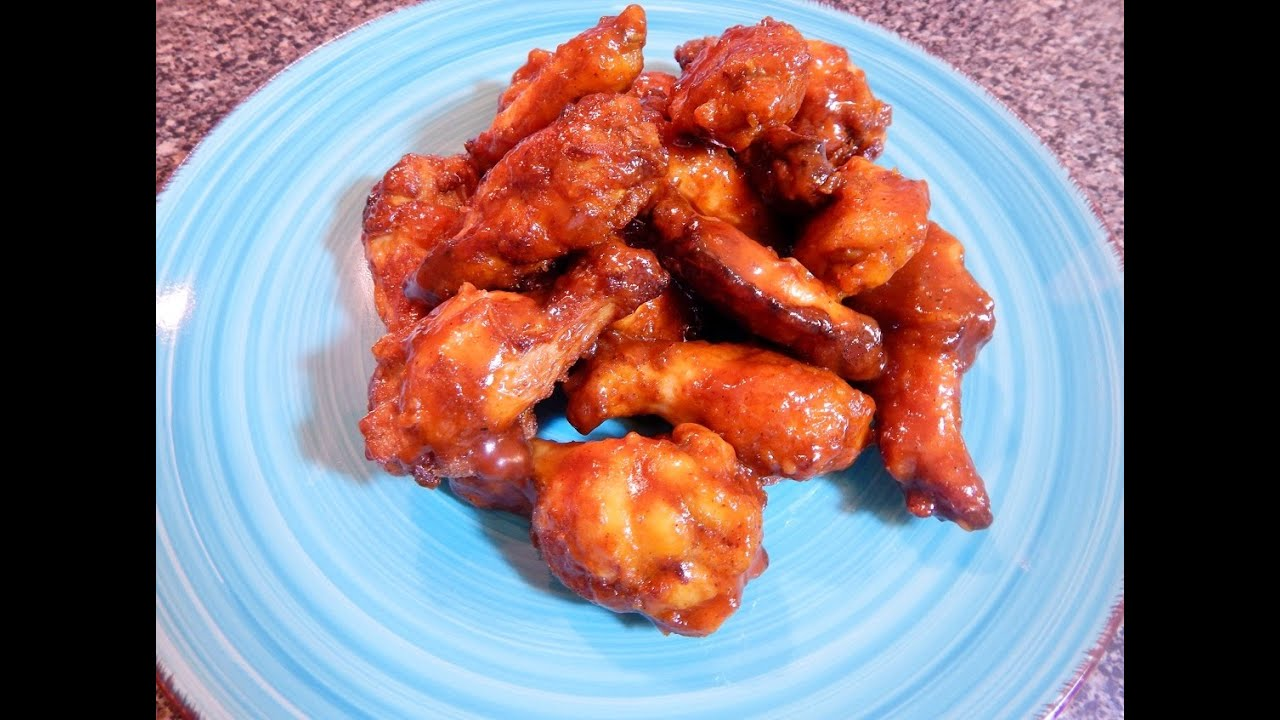 Homemade Chicken Wings With Barbecue Sauce Youtube