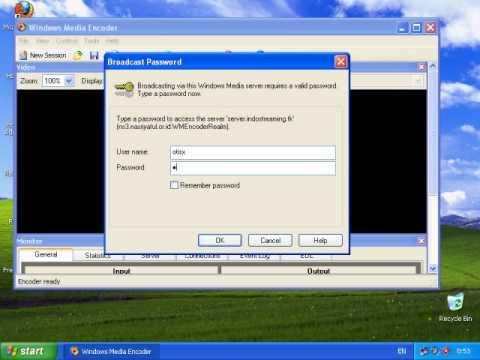 Tutorial video windows media encoder 9 in streaminghosting. Tk.